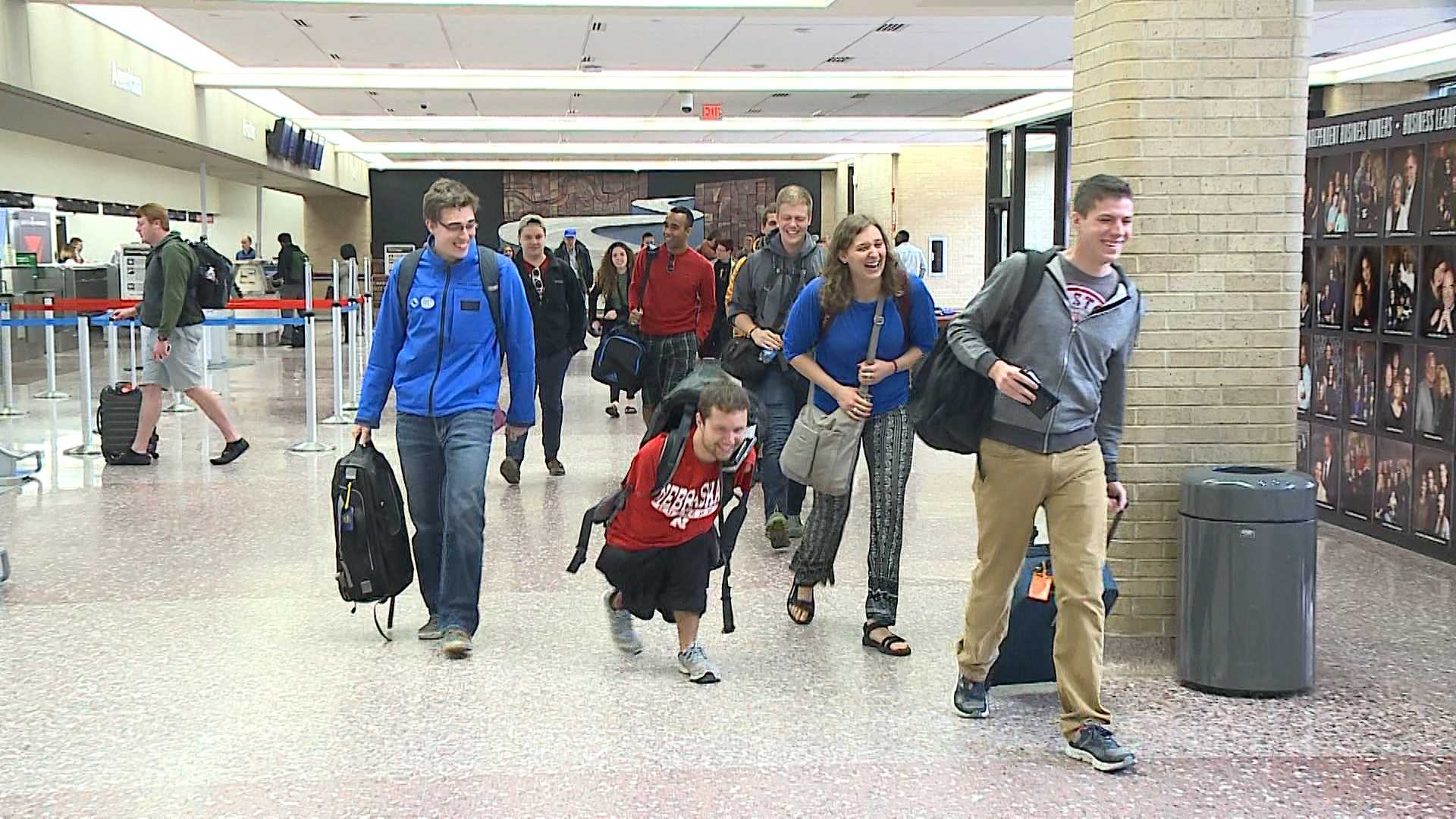 A group of business and engineering students from the University of Nebraska-Lincoln are using their spring break to help Ugandan women a half a world away. The students, who flew out of Omaha's Eppley Airfield, will spend a week to help support a business aimed at empowering women and cleaning the environment in Africa.