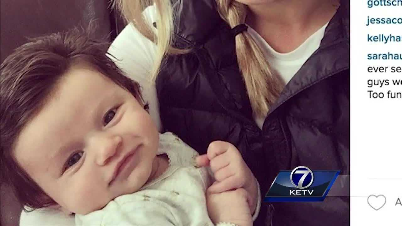 A two-and-a-half-month-old baby who has become an Internet sensation has Nebraska roots.