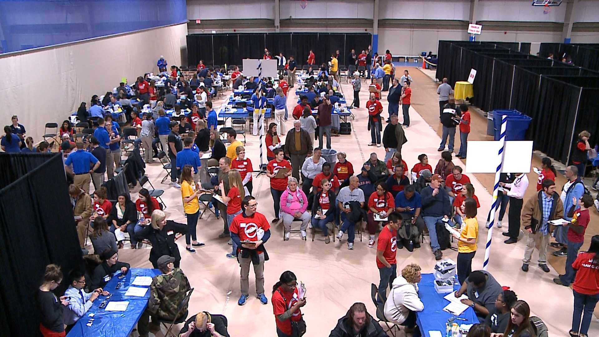 A resource fair at Creighton University on Friday offered a hand up to struggling Omaha residents.