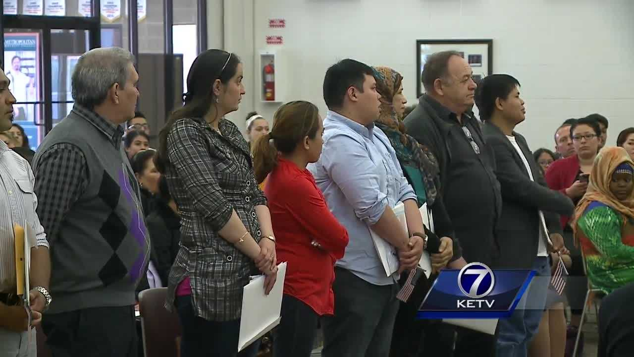 Omaha is home to dozens of new citizens who took part in a naturalization ceremony Thursday.