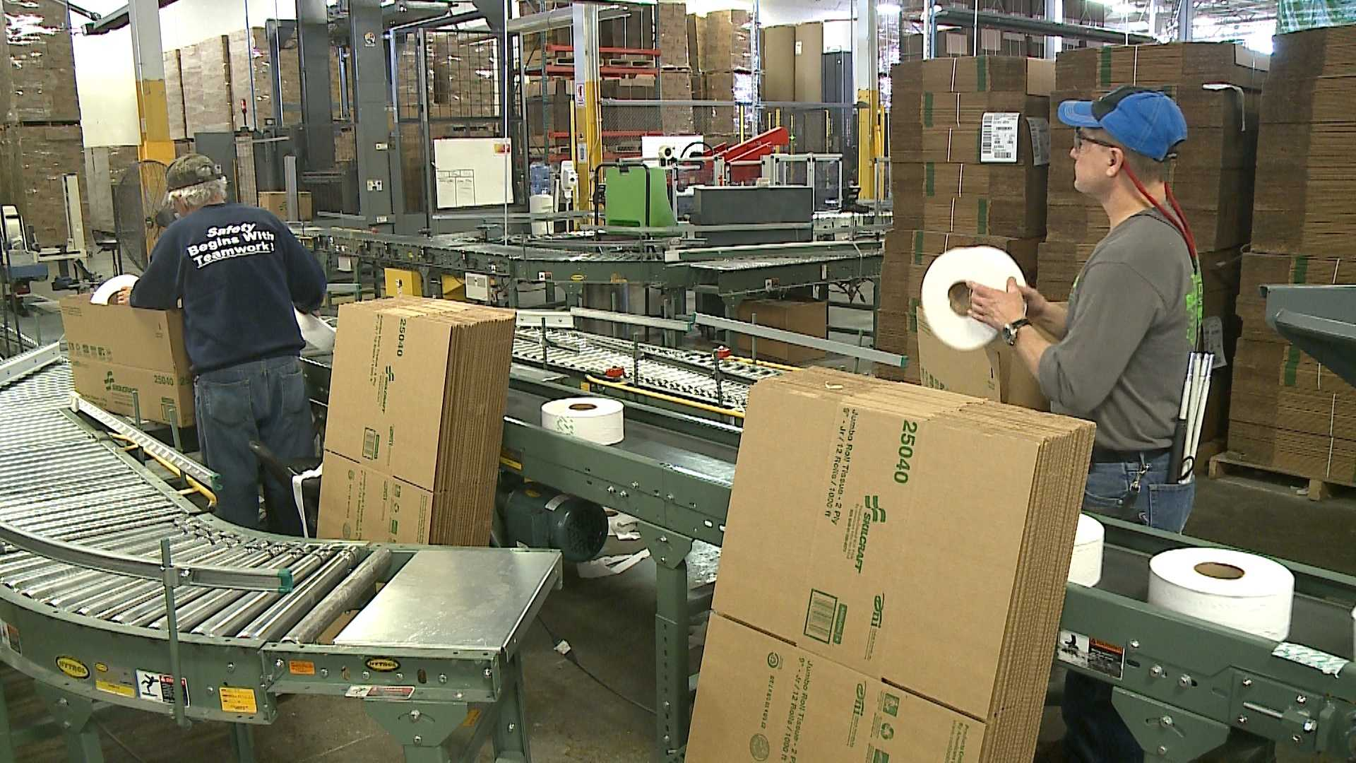 Blind and visually impaired workers find hope at Outlook Nebraska, where they work in a factory designed for people who can't see.