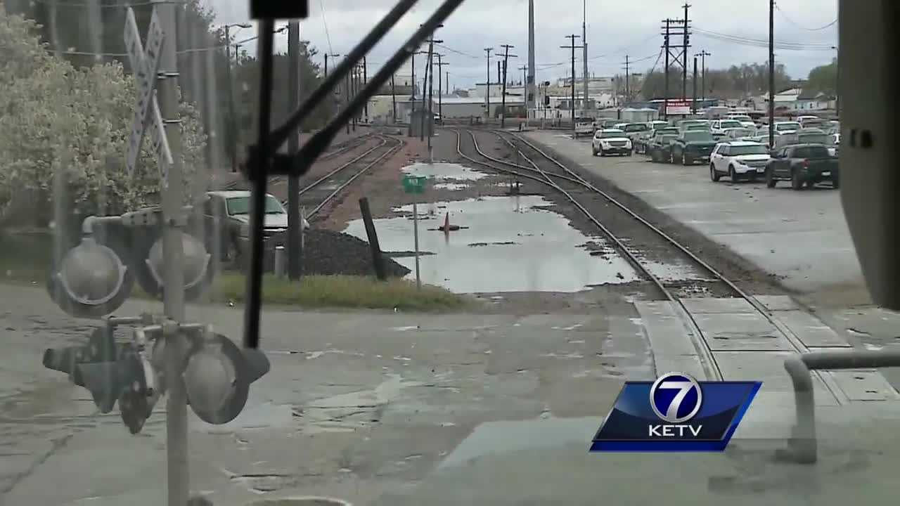 As trains move through big cities and small towns in Nebraska, Union Pacific says every single day, conductors see drivers making dangerous moves at crossings. Camila Orti reports.