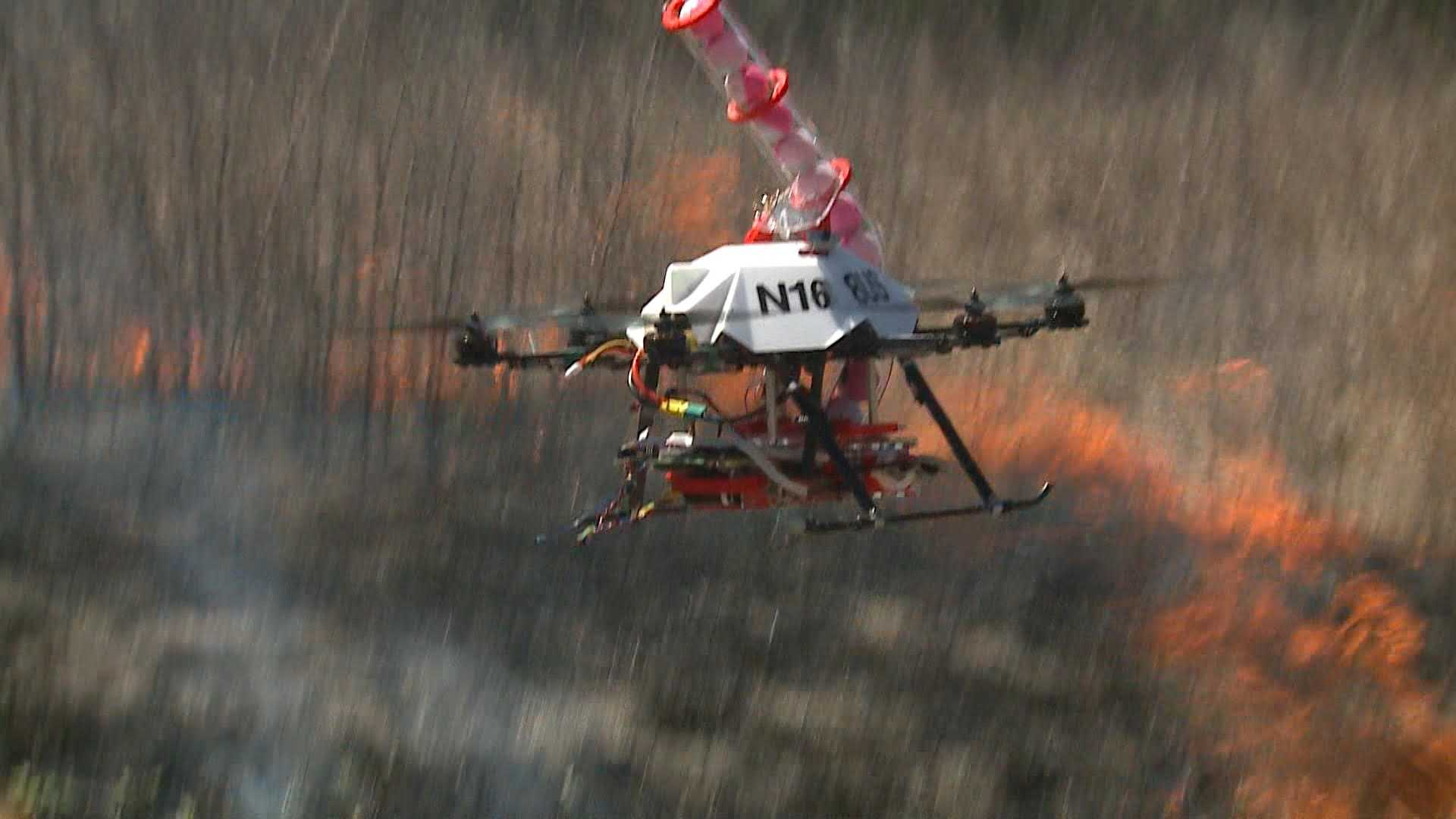 A drone has been developed by University of Nebraska-Lincoln researchers to help make controlled burns safer.