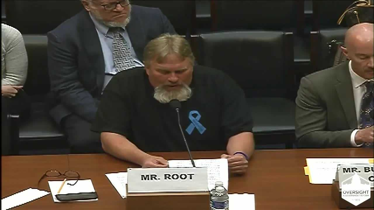 Scott Root told a congressional committee about his daughter's death in a suspected DUI crash, and the frustrating lack of justice after suspect Eswin Mejia skipped bond.