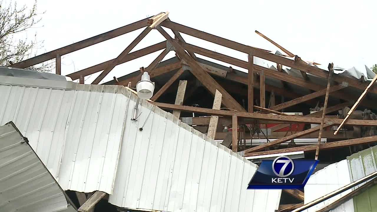 Meteorologists from the National Weather Service office in Valley headed out to southwest Iowa Thursday, scaling Montgomery and Page counties trying to identify the rating of yesterday's tornado.