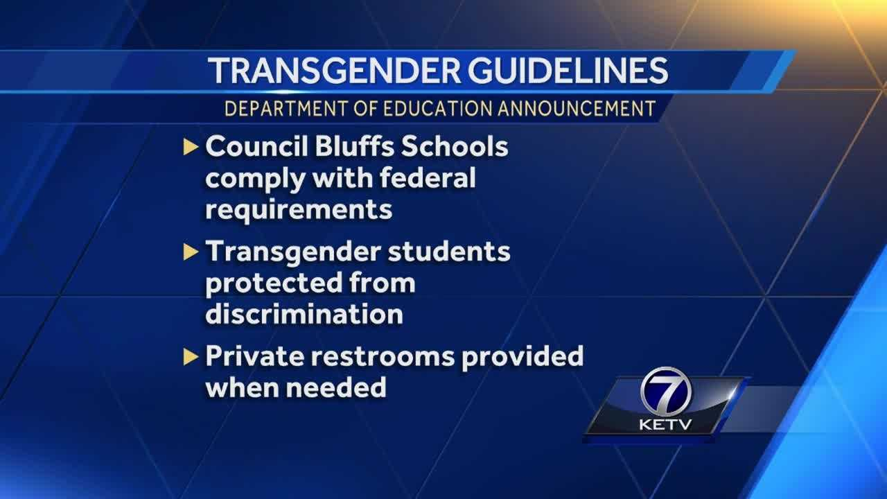 "A joint letter from the Departments of Education and Justice went to schools Friday with guidelines to ensure that ""transgender students enjoy a supportive and nondiscriminatory school environment,"" the Obama administration said Thursday."