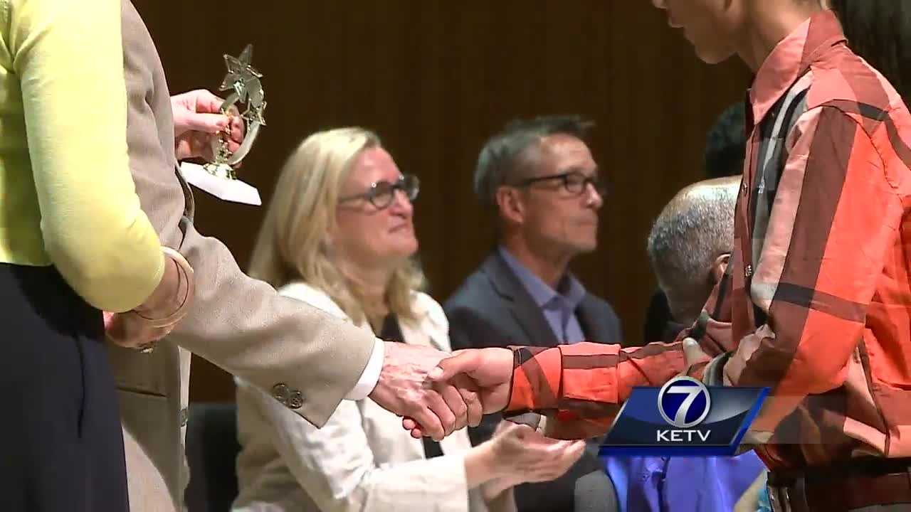There was a celebration of accomplishment Wednesday for a group of local students who, statistically, may have the riskiest futures.