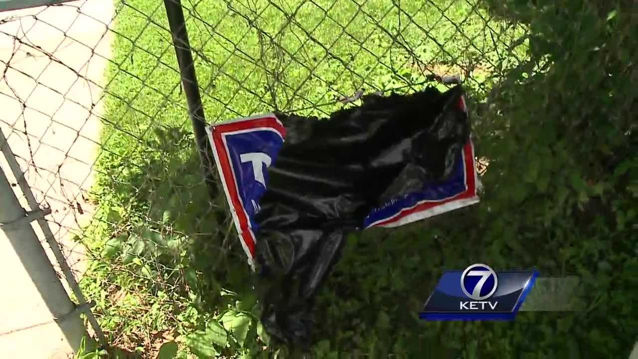 Omaha homeowners say their signs backing Donald Trump, the presumptive GOP presidential nominee, have been stolen.