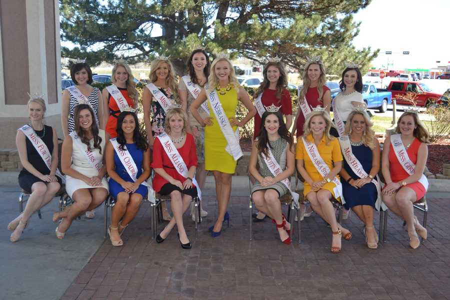 The 2016 Miss Nebraska contestants. The winner will represent Nebraska at the 2017 Miss America Pageant in September on ABC.