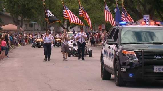 People lined several neighborhood blocks Saturday afternoon for the annual Memorial Day weekend parade in La Vista.