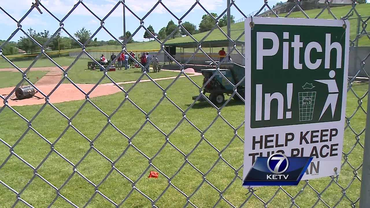 Volunteers are bringing new life to the Omaha Home for Boys baseball field.