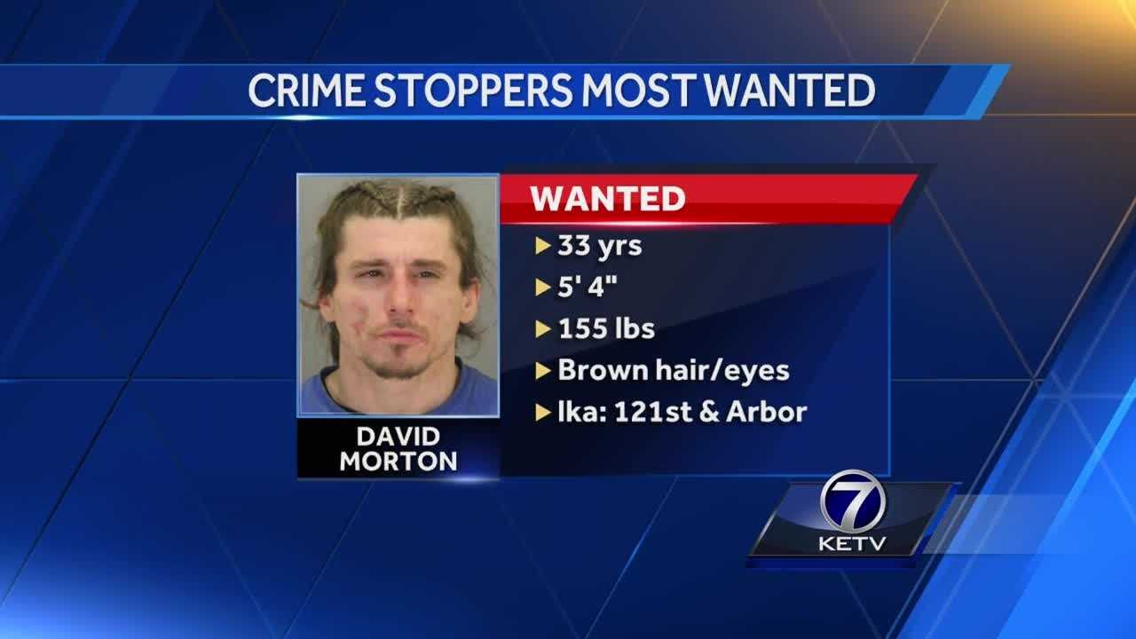 Omaha police are searching for David Morton, 33, who is believed to have threatened to cut a man with a knife.