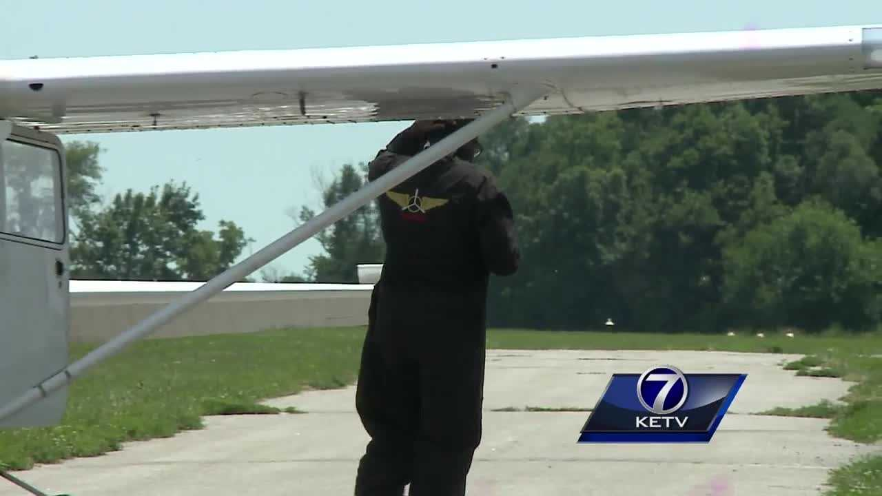 Isaiah Cooper sets his plane down on the Omaha area runway, easing back on the throttle as he brings his plane to a quick stop. However this is more than just a routine landing in Omaha, Cooper is finishing the fourth leg of a world record flight.