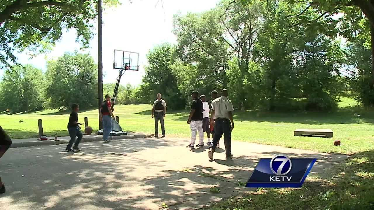The Omaha Police Department said a new basketball hoop in North Omaha is an investment in its relationship with the community.