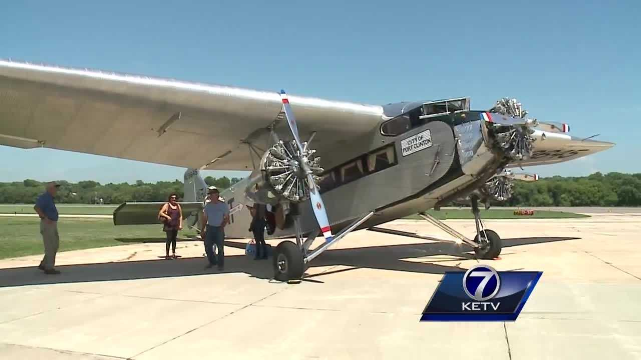 Omaha residents have a chance this weekend to fly on the first all-metal airliner built in the United States.