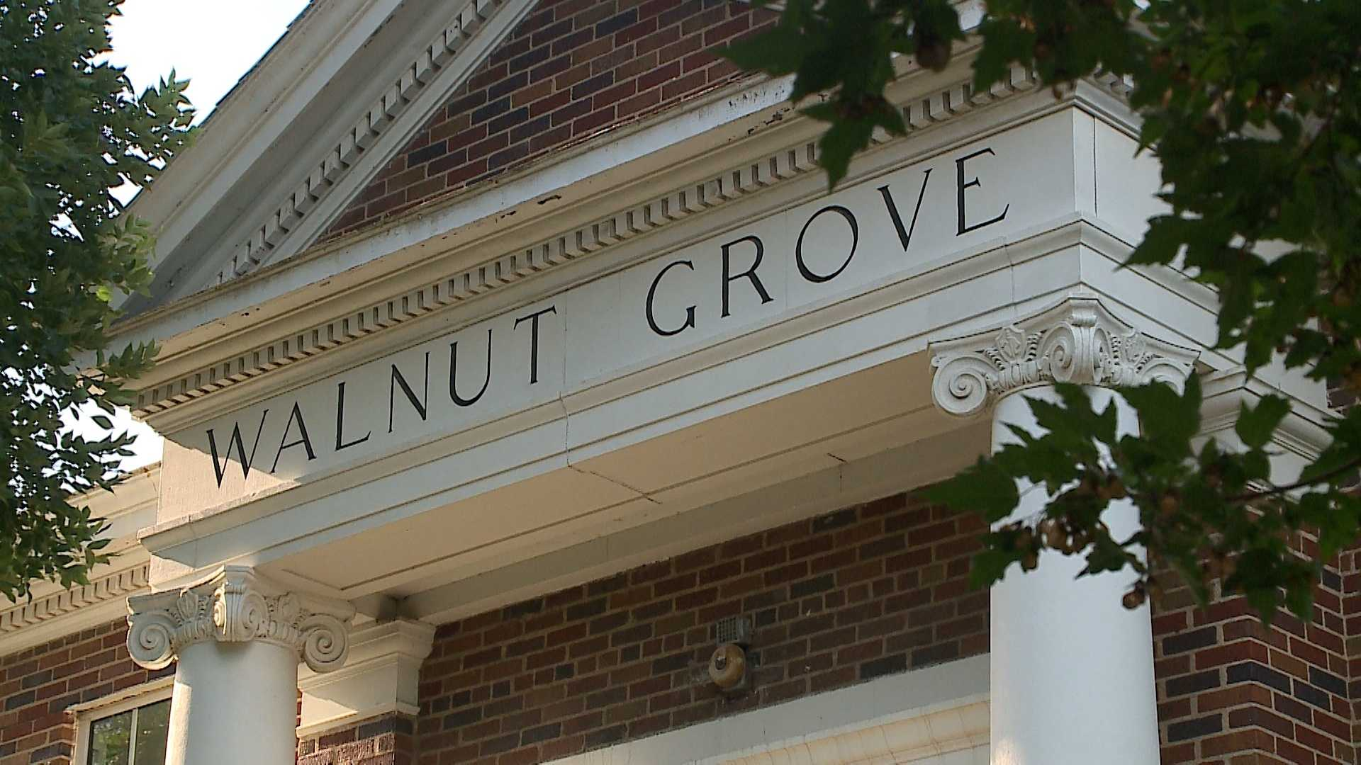 The Walnut Grove Elementary School building has been vacant for two years and neighbors recently helped clean it up.