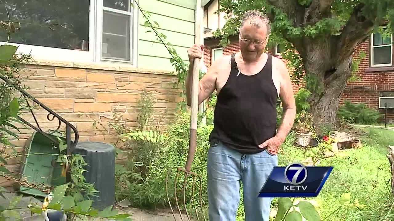 An Omaha man says he came home Sunday afternoon  to find a thief ransacking his home.