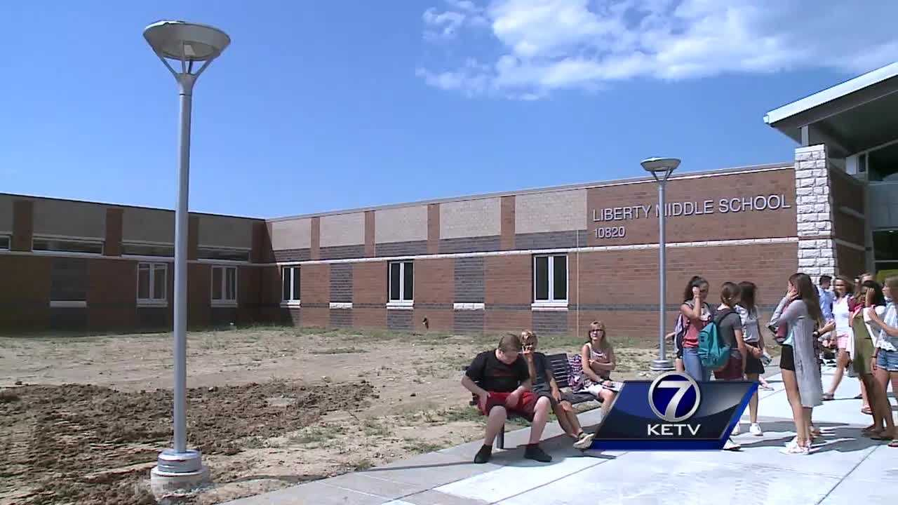 Students throughout the Papillion-La Vista school district were excited for the first day of school Tuesday, but one group of students has a brand-new reason to be excited.