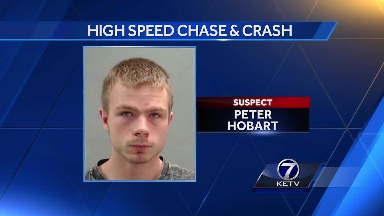 A Pottawattamie County deputy was led on a car chase Wednesday afternoon, and the person believed to be responsible for it ended up in the hospital, Pottawattamie County dispatchers said.