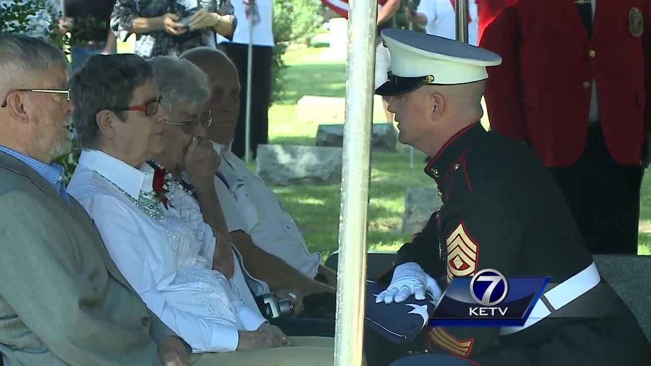 A homecoming 72 years in the making was held Monday.