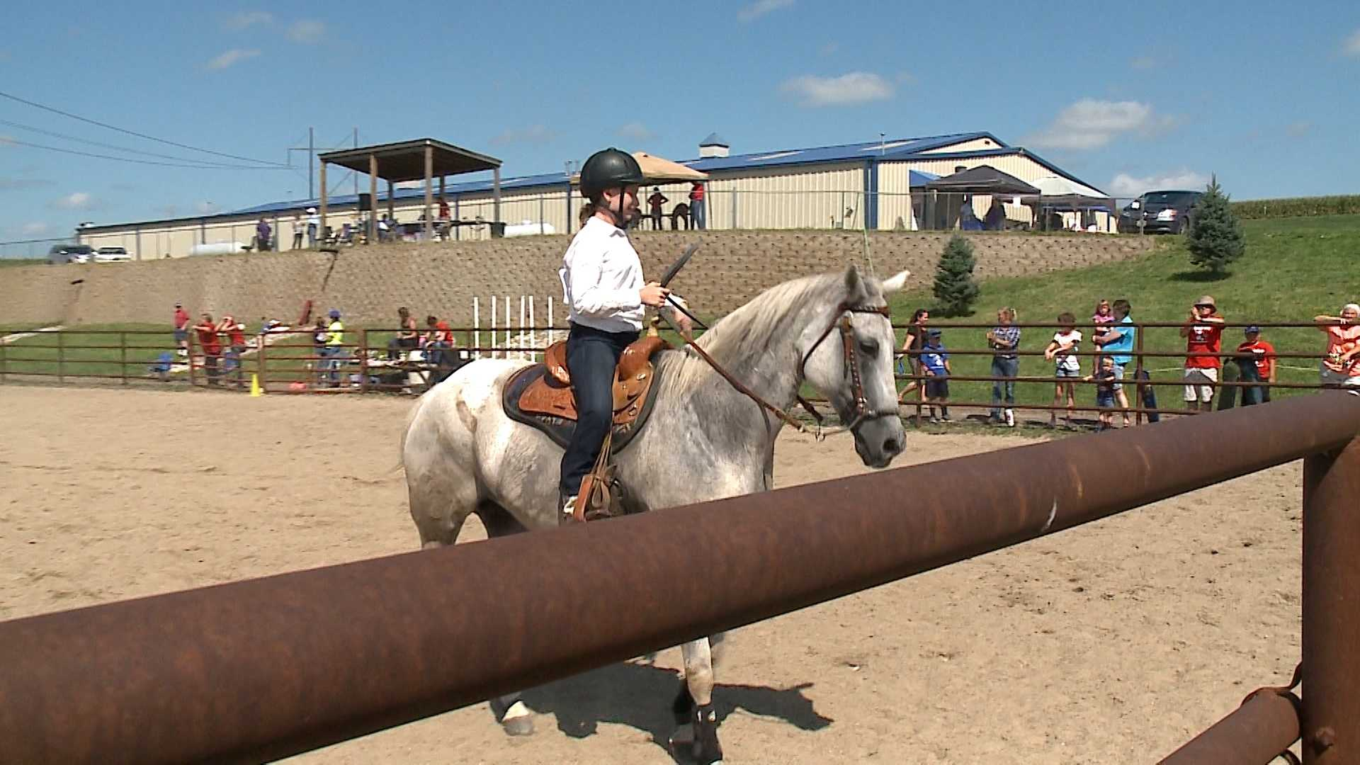 Paige Bunns was one nearly 25 young participants ages 12 and younger who competed Saturday at the Little Britches Horse Show at the Heartland Equine Therapeutic Riding Academy.