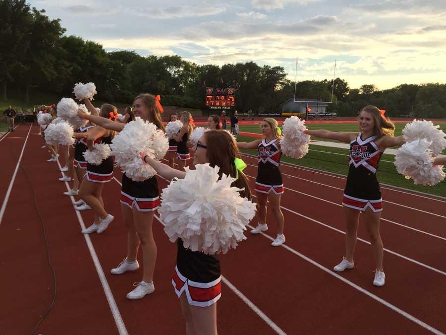 Westside cheerleaders getting the fans ready!