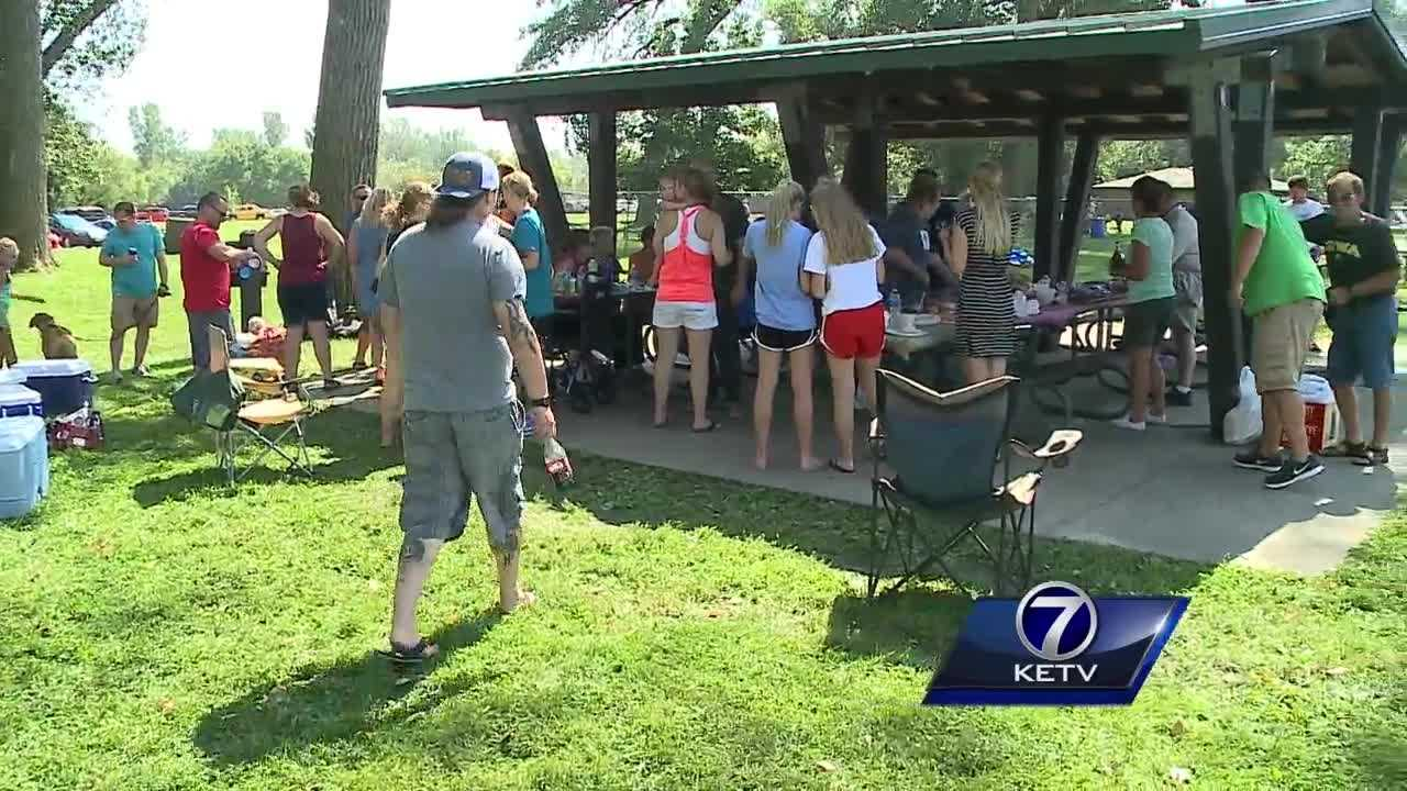 Lake Manawa was a busy place this holiday, with people soaking up as much fun as they could.