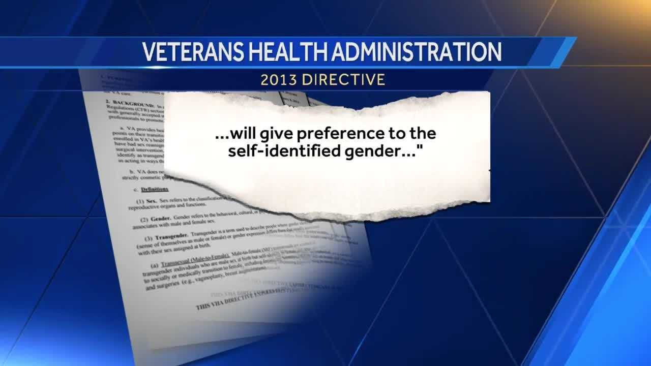 A transgender veteran is speaking out after she says the local VA Hospital staff told her to use a men's bathroom to shower.