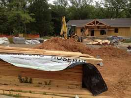 Cabin construction at Lake Fort Smith.