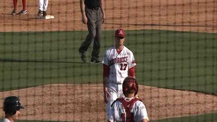 Arkansas pitcher Barrett Astin