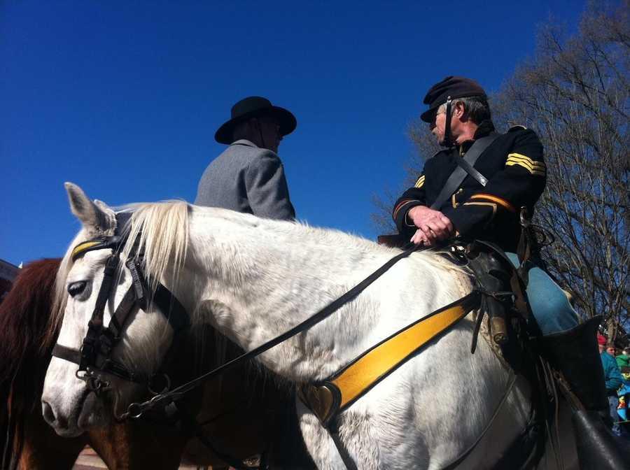Reenactor marking 150 years since the Battle of Pea Ridge.