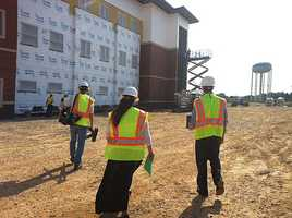 Construction continues on Northwest Arkansas Community College's Health Professions Building.