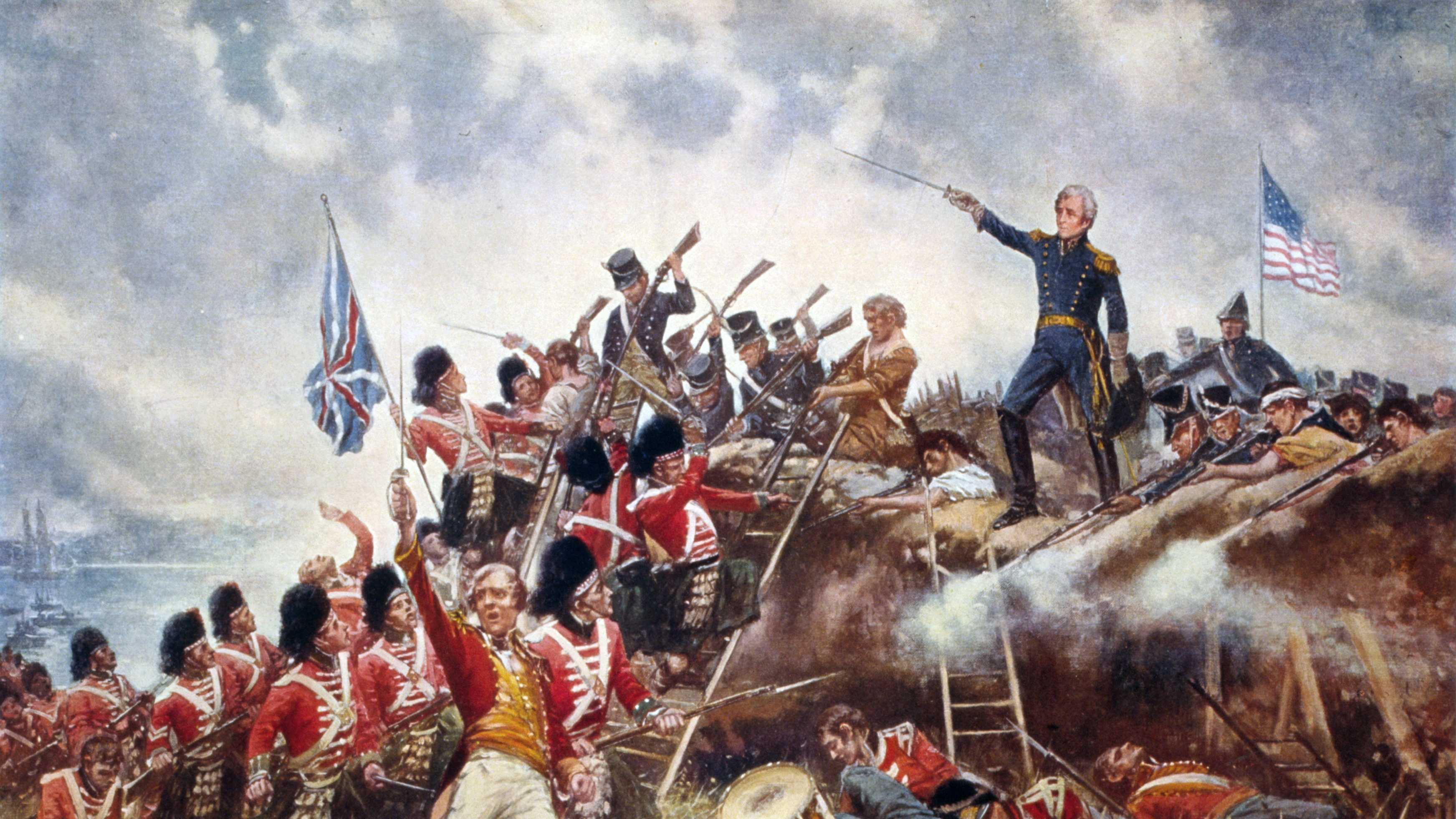 The Battle of New Orleans, led by Andrew Jackson, was the final major battle of the War of 1812.  1910 painting by Edward Percy Moran.