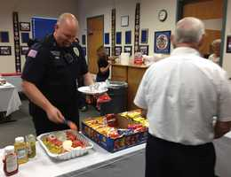 The Fort Smith Police Academy Alumni Association treats officers to a free lunch to show their appreciation.