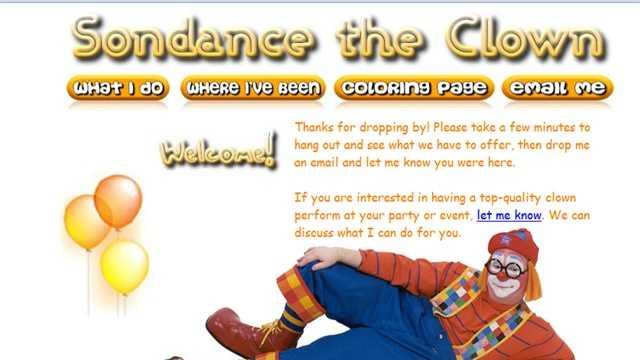 Sundance the Clown's website, Sundance.net.
