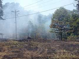 Dry conditions help fuel wildfires throughout the area.