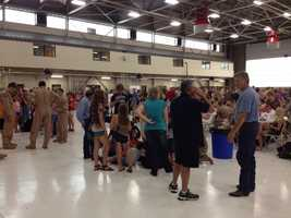 Monday, families said good bye and 'love you' as their heroes were set to leave on another deployment.