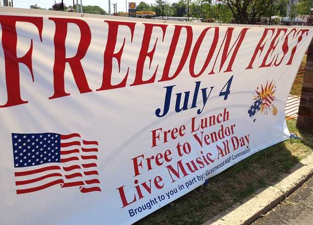 Crowds brave the heat for Freedom Fest in Greenwood.