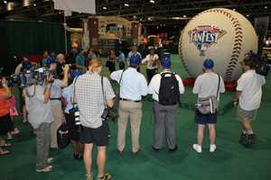 48,159 Miles: The World's Largest Baseball, signed by Hank Aaron, Yogi Berra, Derek Jeter, Willie Mays,Ted Williams, and others, will have traveled48,159 milesby the time it arrives at theKansas City Convention Center/Bartle Hall for MLB All-Star FanFest.