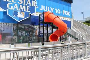 """1,281 games: Total number of MLB games watched (through 7/8) by thesevenremaining MLB Fan Cave""""Cave Dwellers,"""" who will all be in attendance in this part of Kauffman Stadium at the All-Star Game."""