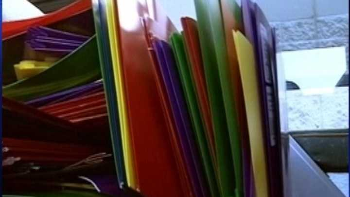 Colorful folders will be tax free!