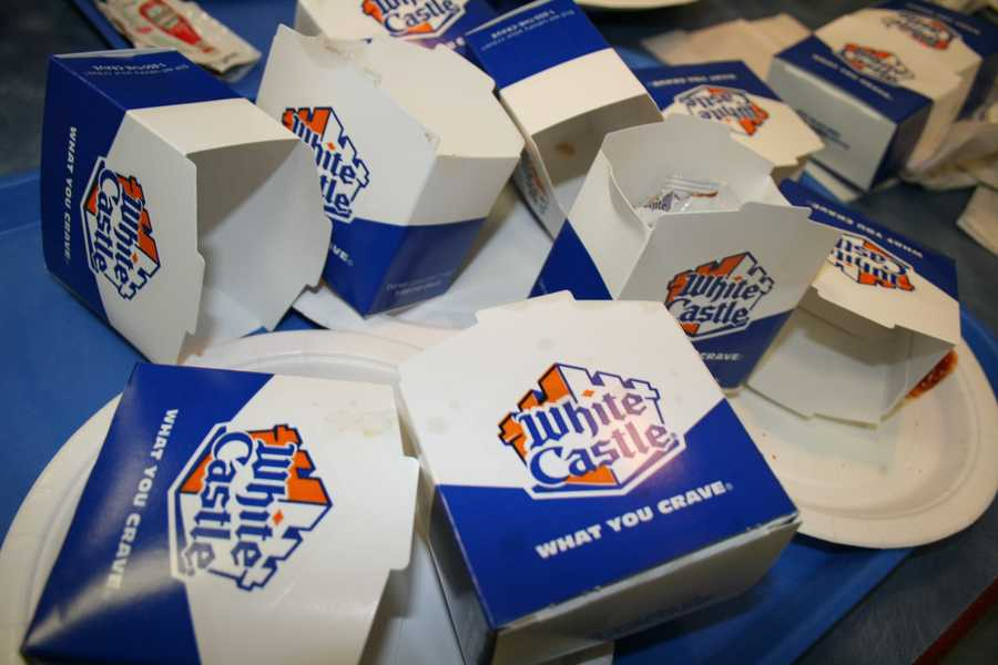 White Castle brings home the bacon...or should we say, ice cream? Their ice cream shakes round out this list and are loaded with calories.