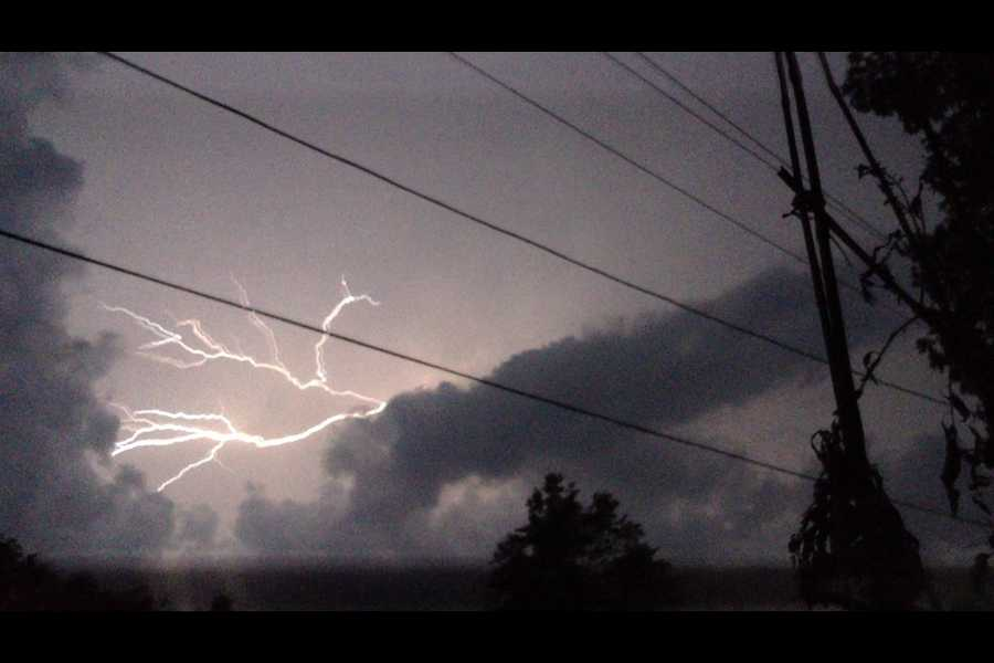 Look at the lightning witnessed overnight above Fayetteville as the storms rolled through.