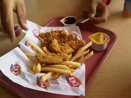 Dairy Queen Chicken Strip Basket: 1270 calories