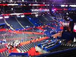 You can see the size of the convention before the crowds pack in this week.