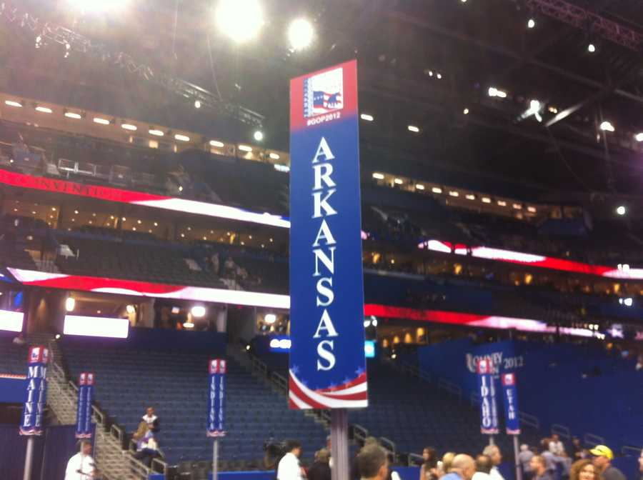 Arkansas delegates will gather here during the Republican National Convention.