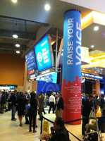 Inside convention center hall