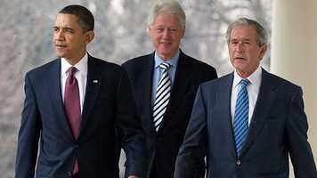 President Barack Obama, George W. Bush, Bill Clinton