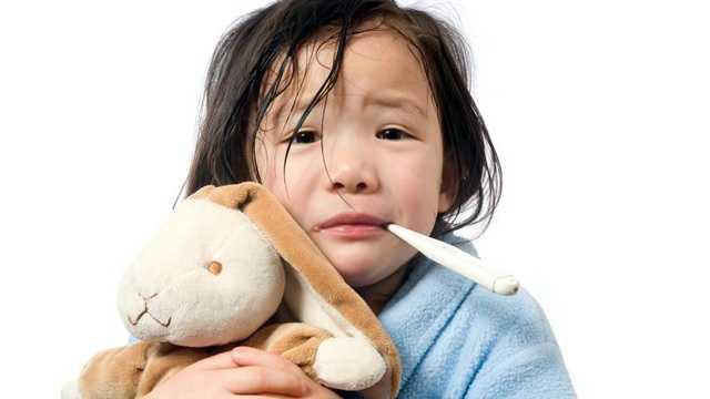 Child sick fever
