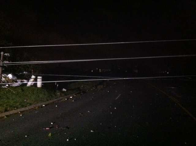 Storms Saturday night knocked out power to customers in Northwest Arkansas.